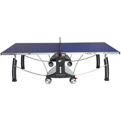 Cornilleau Sport 400M Rollaway 6mm Outdoor Table Tennis Table - Blue Side View