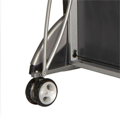 Cornilleau Sport 400M Rollaway 6mm Outdoor Table Tennis Table - Grey Folded