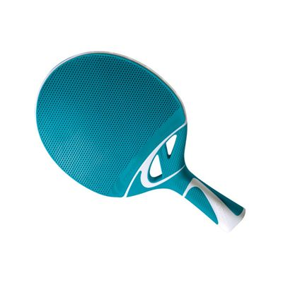 Cornilleau Tacteo 50 Composite Table Tennis Bat - Turquoise Bat Angle View