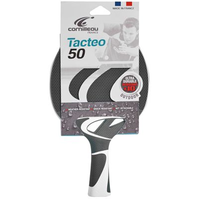 Cornilleau Tacteo 50 Composite Table Tennis Bat Grey Packed