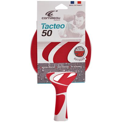 Cornilleau Tacteo 50 Composite Table Tennis Bat Red Packed