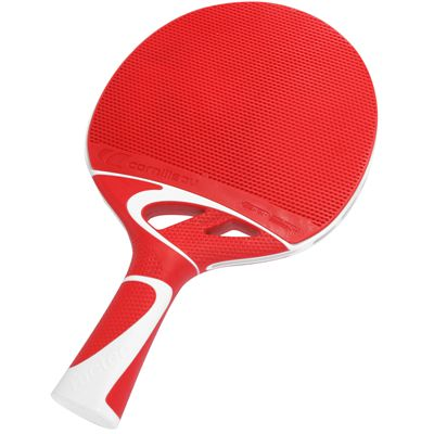 Cornilleau Tacteo 50 Composite Table Tennis Bat-red-flat