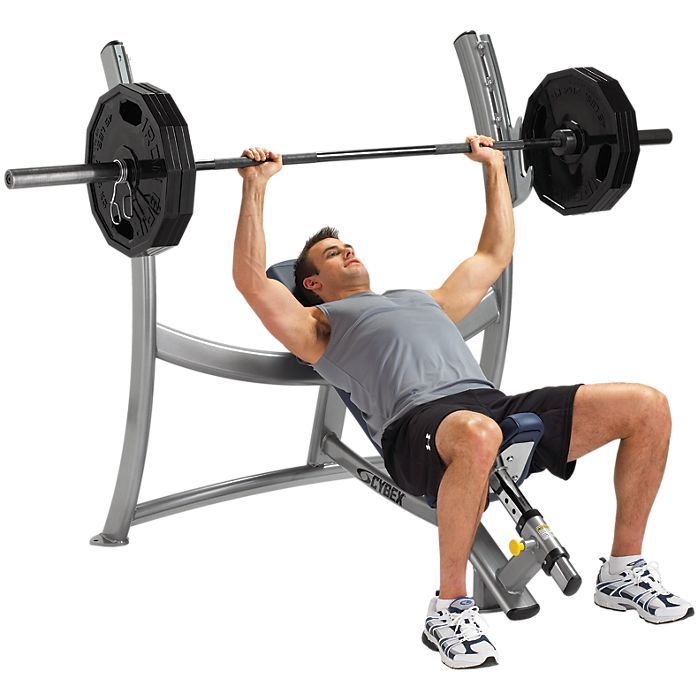 Free Weights Bench: Cybex Free Weights Olympic Incline Bench