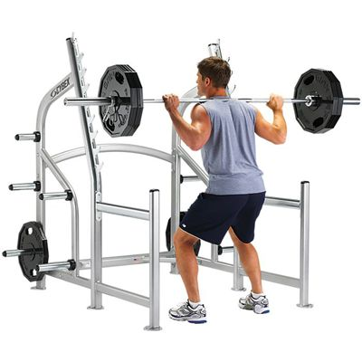 Cybex Squat Rack With Fixed Stops