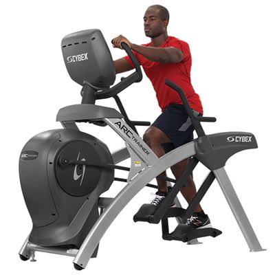 Cybex 625A Lower Body Arc Trainer with E3 View Embedded Monitor - In Use