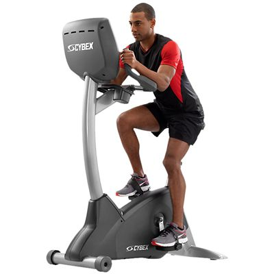 Cybex 625C Upright Exercise Bike with E3 View Embedded Monitor - Side