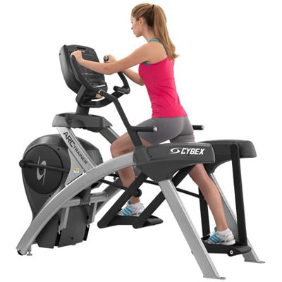 Cybex 770A Lower Body Arc Trainer with E3 View Embedded Monitor - In Use