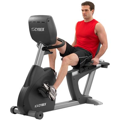 Cybex 770R Recumbent Bike with E3 View Embedded Monitor
