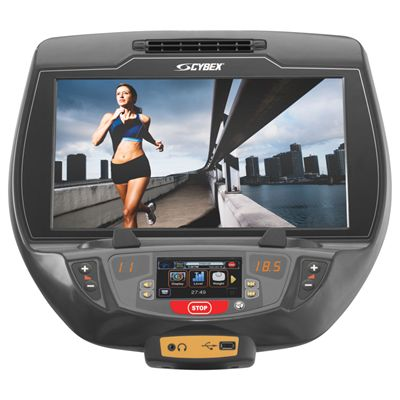 Cybex 770R Recumbent Bike with E3 View Embedded Monitor - Console