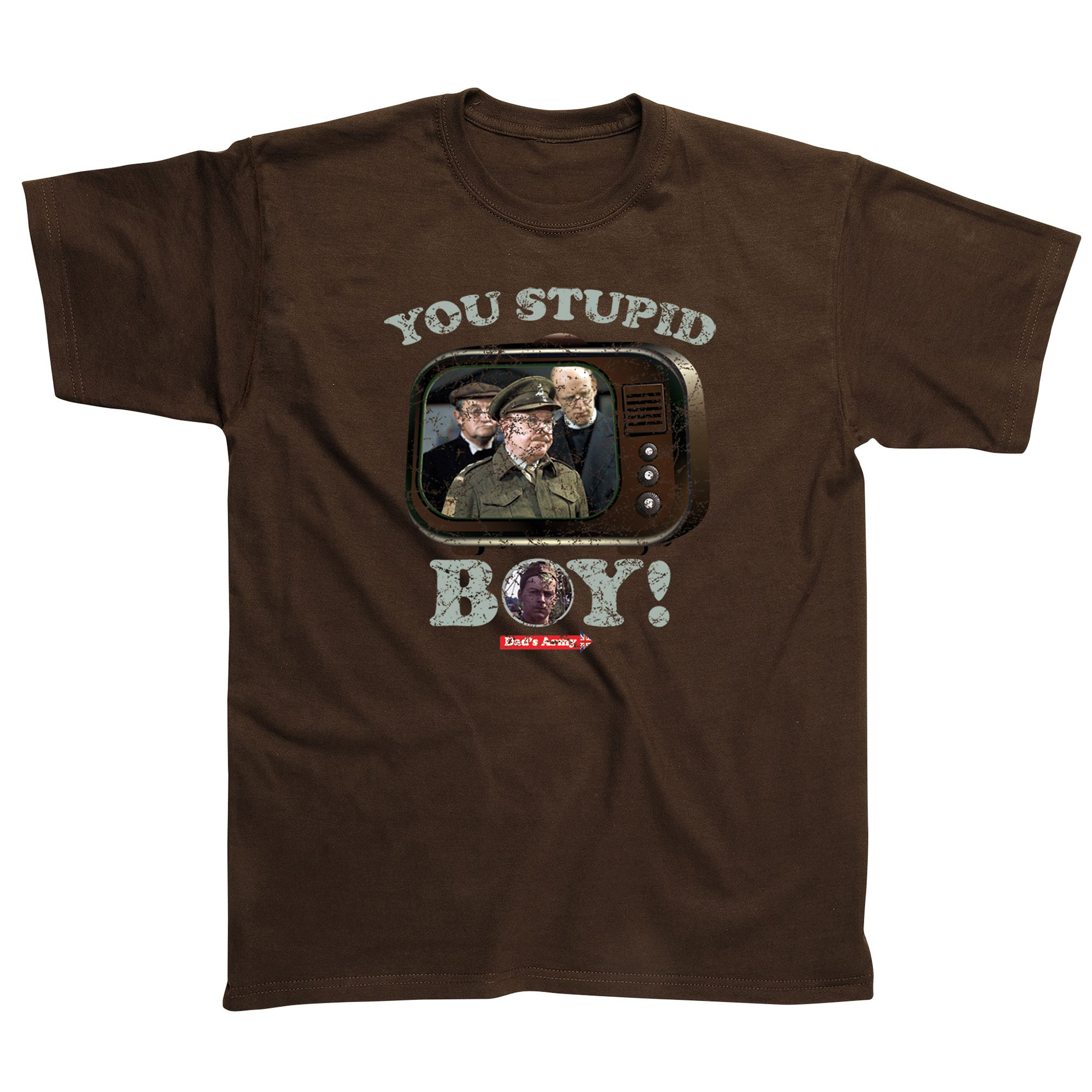 Stupid T Shirts >> Dads Army Stupid Boy T-Shirt - Sweatband.com