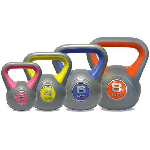 DKN 2, 4, 6 and 8kg Vinyl Kettlebell Weight Set