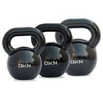 DKN 20, 24 and 28kg Cast Iron Kettlebell Set