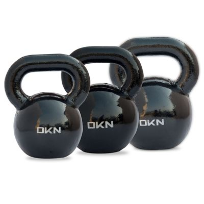 DKN 20 and 24 and 28kg Cast Iron Kettlebell Set