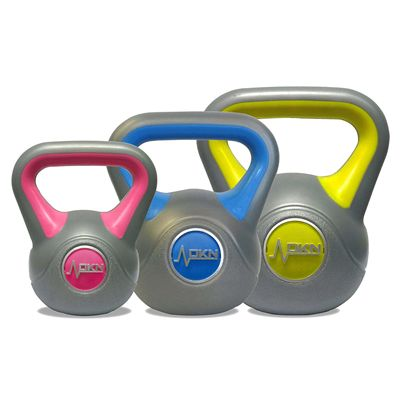 DKN 2 3 and 4kg Vinyl Kettlebell Set - Back ss
