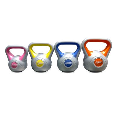 DKN 2 4 6 and 8kg Vinyl Kettlebell Weight Set - back SB