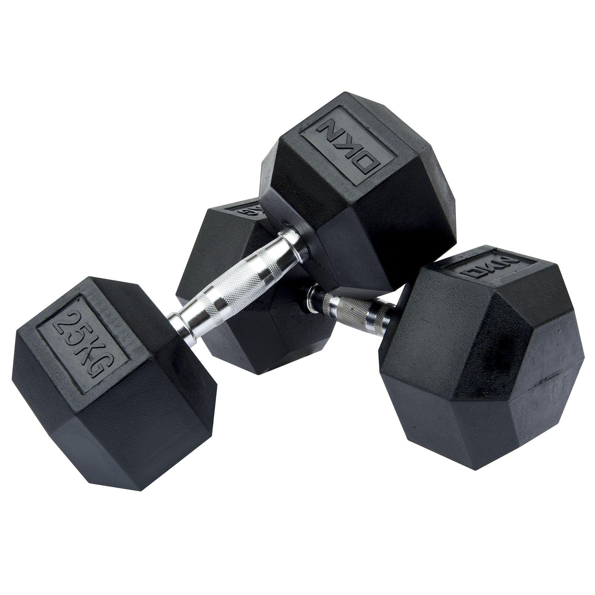 DKN 5kg To 30kg Rubber Hex Dumbbell Set