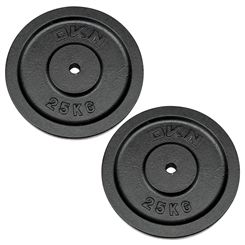 DKN Cast Iron Standard Weight Plates - 2 x 25kg