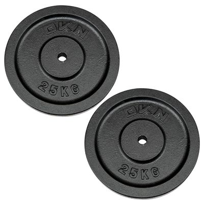DKN Cast Iron Standard Weight Plates 2 x 25kg