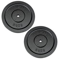 DKN Cast Iron Standard Weight Plates - 2 x 20kg