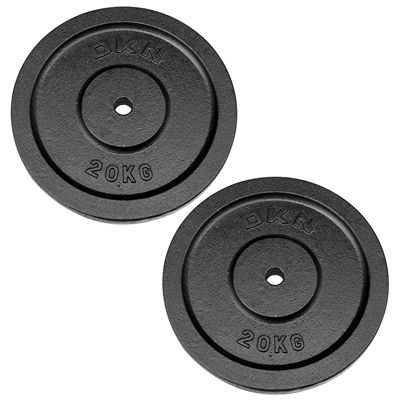 DKN Cast Iron Standard Weight Plates 2 x 20kg
