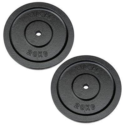 DKN Cast Iron Standard Weight Plates 2 x 20kg