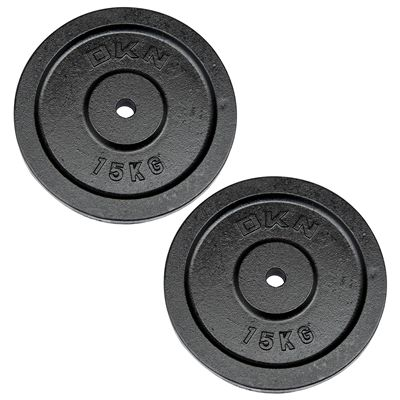 DKN Cast Iron Standard Weight Plates 2 x 15kg