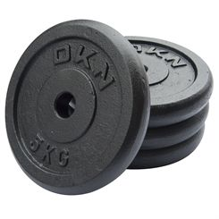 DKN Cast Iron Standard Weight Plates - 4 x 5kg