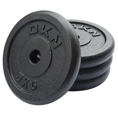 DKN Cast Iron Standard Weight Plates 4 x 5kg
