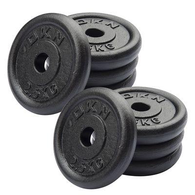 DKN Cast Iron Standard Weight Plates 8 x 2.5