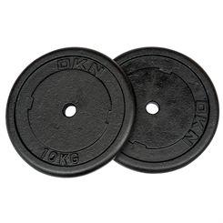 DKN Cast Iron Standard Weight Plates - 2 x 10kg