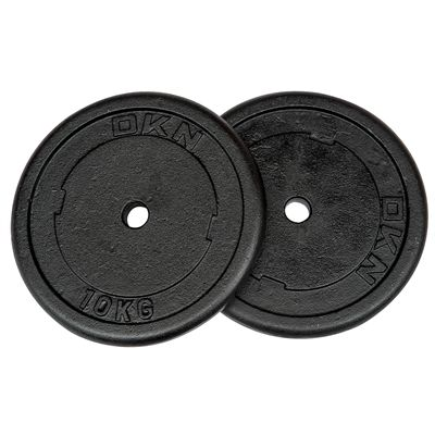 DKN Cast Iron Standard Weight Plates 2 x 10kg