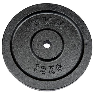 DKN Cast Iron Standard Weight Plate 15kg