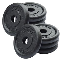 DKN Cast Iron Standard Weight Plates - 8 x 1.25kg