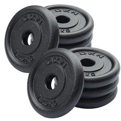 DKN Cast Iron Standard Weight Plates 8 x 1.25kg