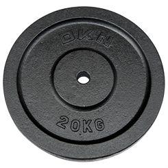 DKN Cast Iron Standard Weight Plates - 1 x 20kg