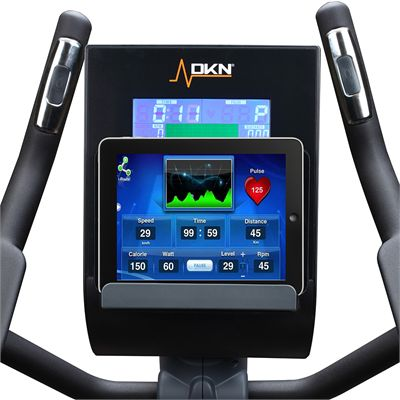 DKN EB-5100i Elliptical Cross Trainer In Use with iPad Heart Rate