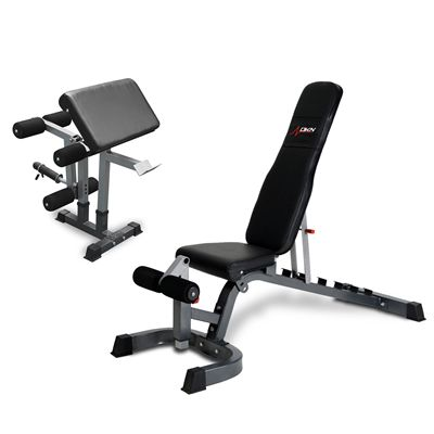 DKN FID Heavy Duty Utility Bench with Leg Developer and Preacher Curl - new