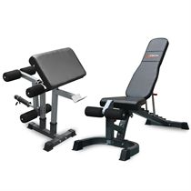 DKN FID Elite Heavy Duty Utility Bench with Leg Developer and Preacher