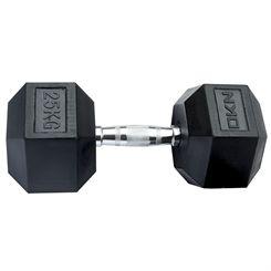 DKN Rubber Hex Dumbbells - 25kg