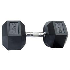 DKN Rubber Hex Dumbbells - 27.5kg