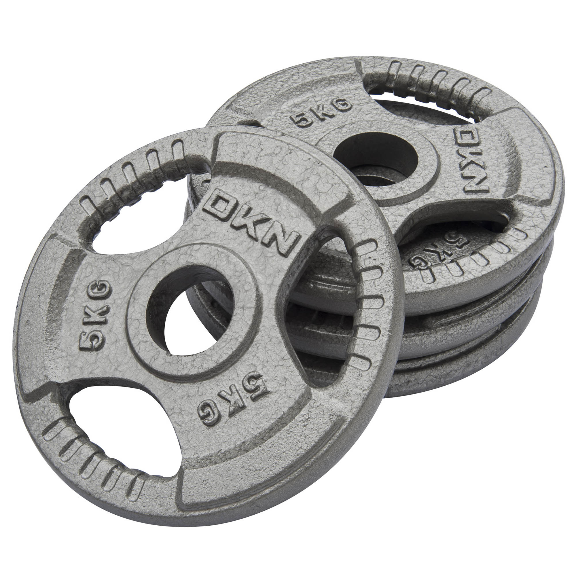 DKN Tri Grip Cast Iron Olympic Weight Plates - 4 x 5kg