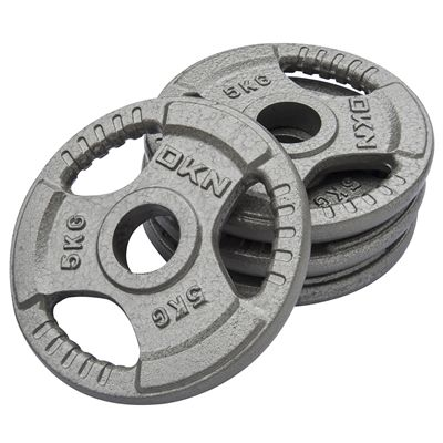 DKN Tri Grip Cast Iron Olympic Weight Plates 4 x 5kg