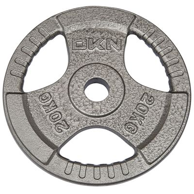 DKN Tri Grip Cast Iron Olympic Weight Plates 20kg