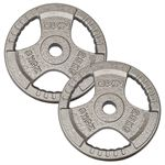 DKN Tri Grip Cast Iron Olympic Weight Plates - 2 x 25kg
