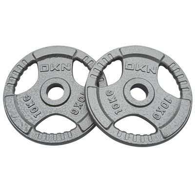 DKN Tri Grip Cast Iron Olympic Weight Plates 2 x 10kg