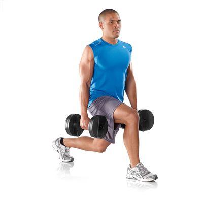 DKN TwistLock 2 x 20kg Adjustable Dumbbells Training