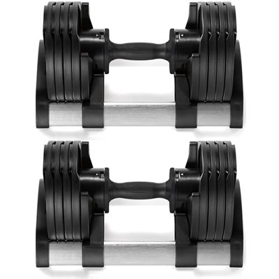 TwistLock 2 x 20kg Adjustable Dumbbells Front View