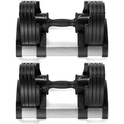 TwistLock 2 x 20kg Adjustable Dumbbells Front View