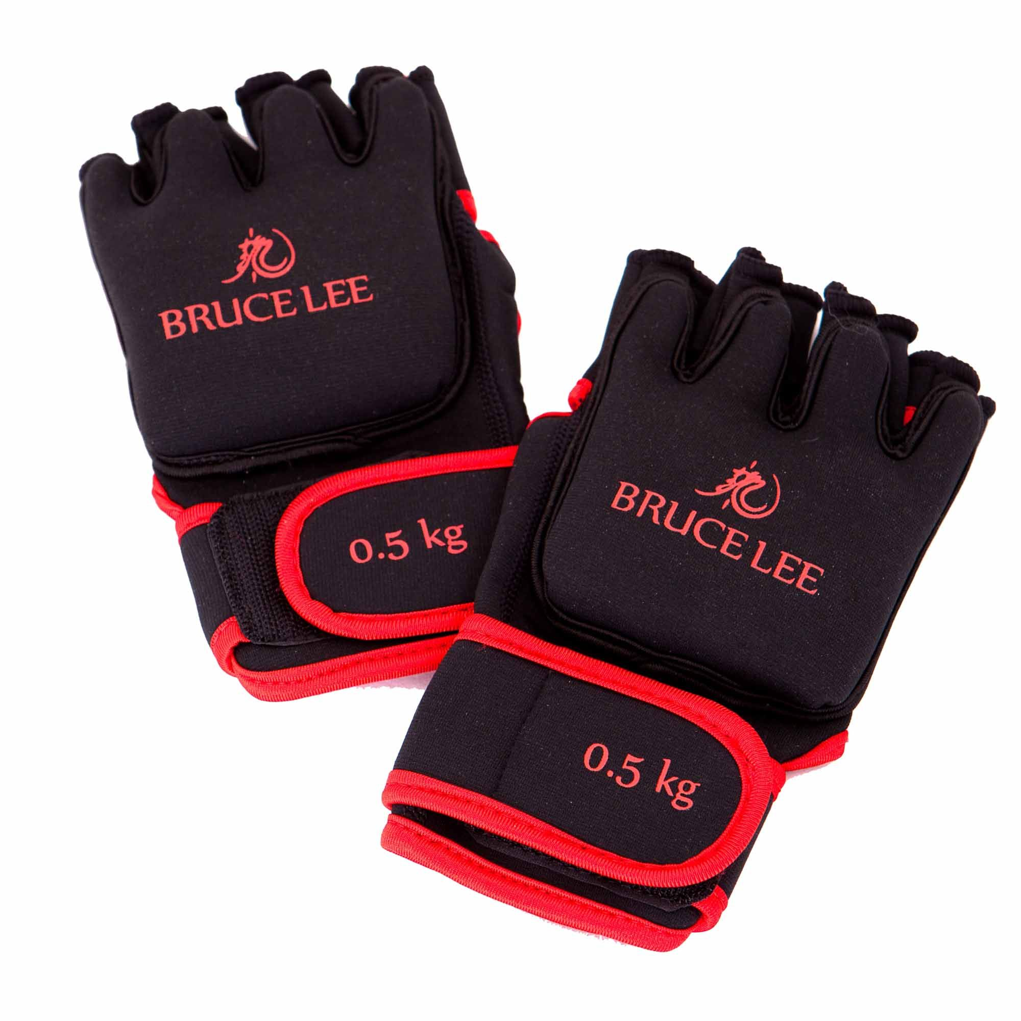 Deluxe Weight Lifting Gloves St12007: Marcy Bruce Lee Dragon Deluxe 0.5kg Weighted Gloves