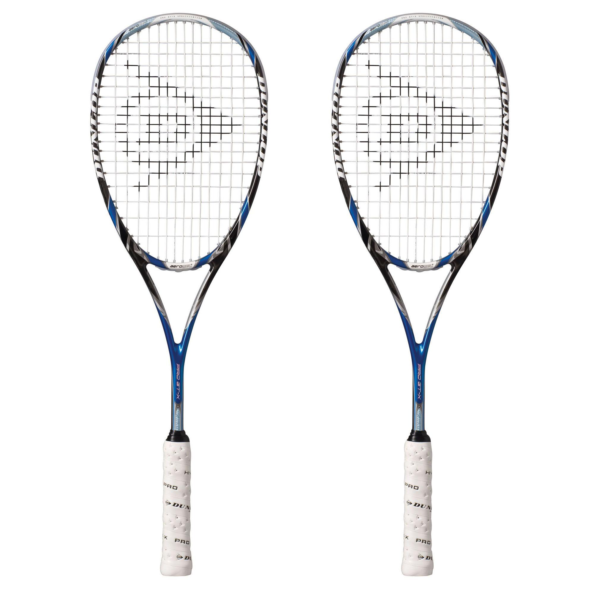 Dunlop Aerogel 4D Pro GTX Squash Racket Double Pack